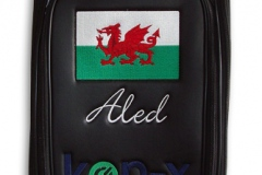 Tourbag MONTECASTILLO M2 schwarz: Waliser Flagge 2