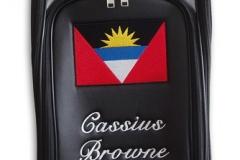 Tourbag MONTECASTILLO M2 schwarz: Flagge Antigua Barbuda 1