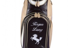 Individuells Golfbag aus echtem Leder: Stadtwappen Stuttgart
