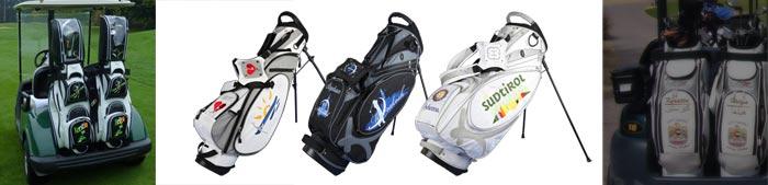 Golfbags für die Reise. Individuell bestickt