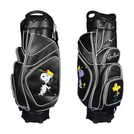 Сумка для гольфа GENEVA cart bag черный. Bauhaus стиль. 4 мзоны вышивки. Дизайн онлайн