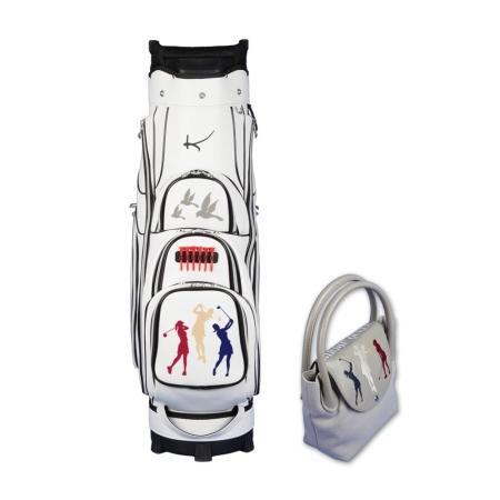 Set da donna! Sacca da golf carrello GINIVRA & borsa ONLY YOU nel design