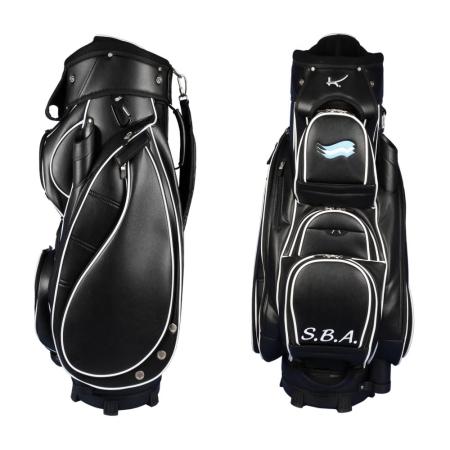 Golf bag / cart bag type MADEIRA in BLACK. Design 2 custom areas online
