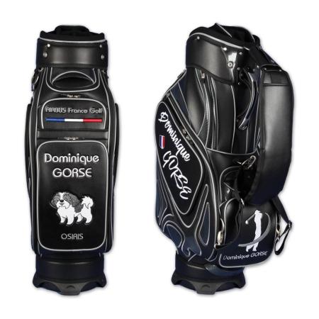 сумка для гольфа / tour bag MONTROSE черный. Дизайн онлайн. 5 больших вышитые участки