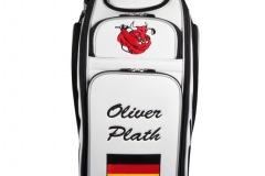 Golfbag / Tourbag in weiss/silber