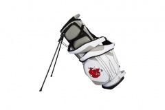 Golfbag / Standbag in weiss/silber