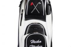 Golfbag / Cartbag: Golfschläger und Fahne