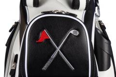 Golfbag / Cartbag : Golfschläger und Fahne