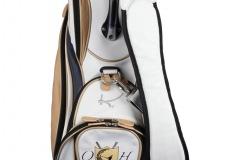 Individuells Golfbag aus echtem Leder: Gekreuzte Schläger