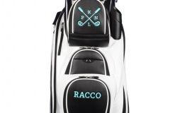 Golfbag / Cartbag: Golfschläger gekreuzt