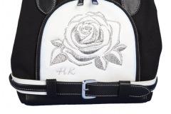 Designer Handtasche individuell bestickt: Rose in Scherenschnitt