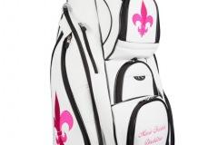 Golfbag mit pinkfarbener Lilie