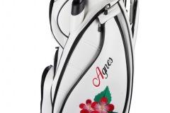 Persönliches Golfbag mit Blumenmustern