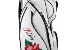 Persönliche Golfbag mit Blumenmustern