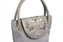 """Designer Golf-Handtasche beige """"Schmetterling"""""""