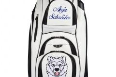 Golfbag / Cartbag in weiss: Eisbär