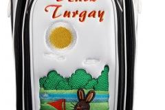 Golfbag, Ladies Staffbag: Hase auf dem Grün