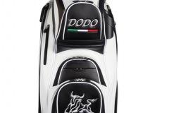 Golfbag / Cartbag in schwarz/weiss: Stier