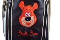 Individuells Golfbag aus echtem Leder. Birdie Bear