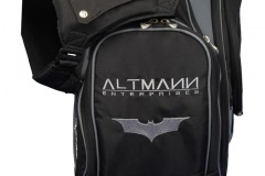 Golfbag / Standbag in schwarz/silber. Batman