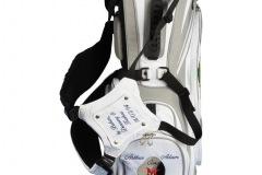 Golfbag / Standbag in weiss/silber.  Stickdesign Donnerkeulen