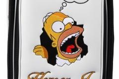 Golfbag / Tourbag in weiss: Simpson Hmmm... Golf