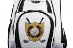 Golfbag / Cartbag : Golfball mit Lorbeerkranz