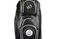 Golfbag / Cartbag. Lachender Golfball