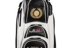 Golfbag / Cartbag, Goldener Golfball mit Lorbeerkranz