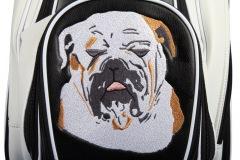 Golfbag / Cartbag mit Bulldogge