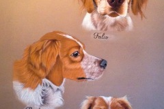 Hundeportrait-Gemälde