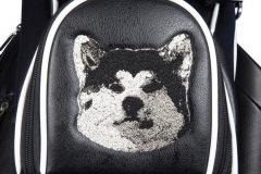 Golfbag / Cartbag mit gestickem Huski
