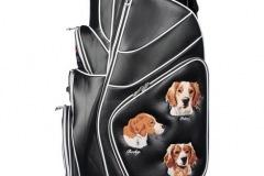 Golfbag / Cartbag mit Hundeportraits