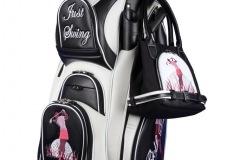 Golfbag / Cartbag in schwarz/weiss