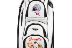 Golfbag / Cartbag in weiss: Ladies Golf pink/rosa