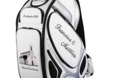 Golfbag / Tourbag in weiss: Just Married