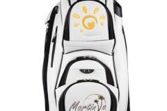Golfbag / Cartbag individuell bestickt:  Sonne mit Herz