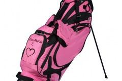 Golfbag / Standbag in pink/schwarz: Herz