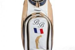 Individuells Golfbag aus echtem Leder: Putting Golfer