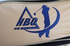 Individuells Golfbag aus echtem Leder: Golfmotiv
