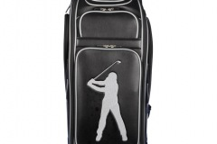 Golfbag / Tourbag in schwarz: Golfer