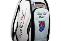 Golfbag mit dem Wappen von St. Augustin
