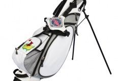 Golfbag /Standbag: Ball mit Blitz.