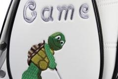 Golfbag / Cartbag: Schildkröte beim Golfspielen