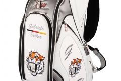 Golfbags ganz individuell: Tiger mit Golfball