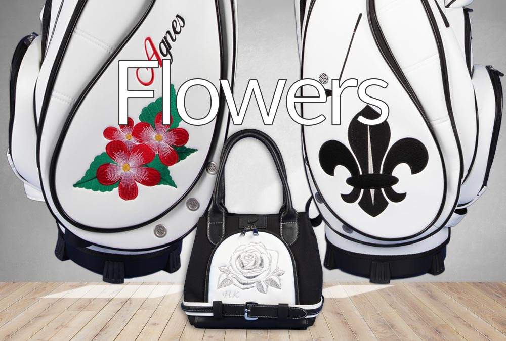 Blumenmuster. Golfbags individuell