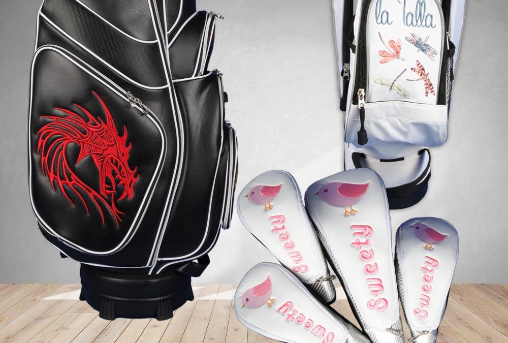 Tiere in der Luft. Golfbags individuell