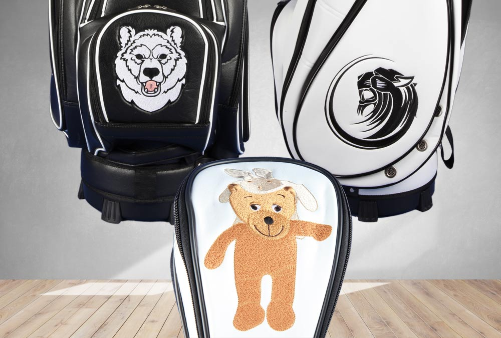 Tiere laufend. Golfbags individuell