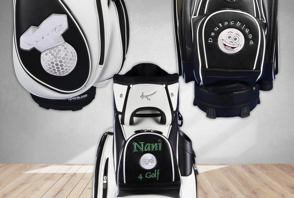 Golfball-Designs für individuell bestickte Golfbags