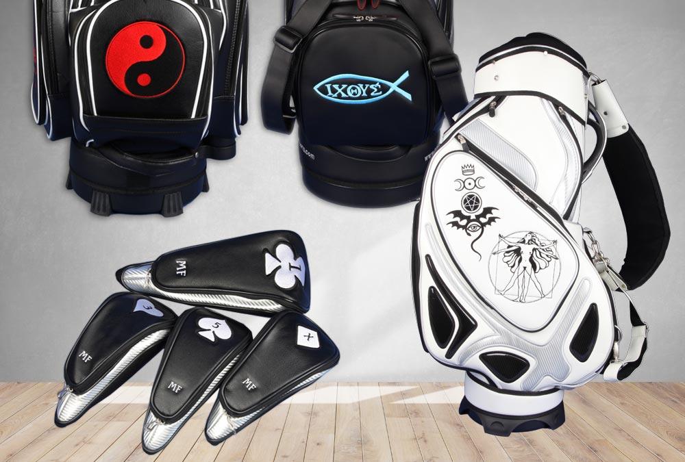Golfbags mit besonderen Symbolen
